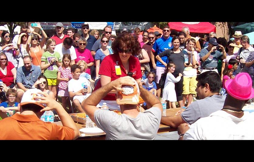 Pasta Eating Contest at the Houston Italian Festival