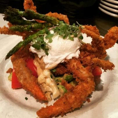 Soft shell crabs, Franks Americana Revival, Wine Star Bar, Colin Shine