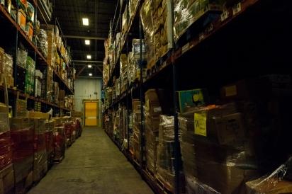 Inside Houston Food Bank cooler