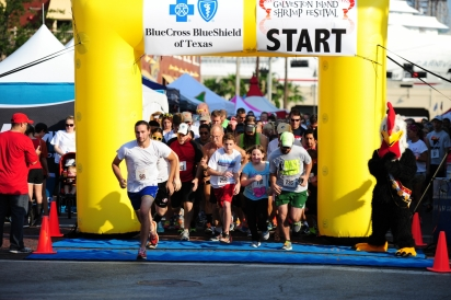 5k run Galveston Island Shrimp Festival