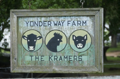 sign for yonder way farm
