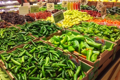 local food, local grocer, peppers