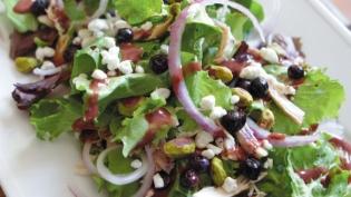 chevre blueberry salad