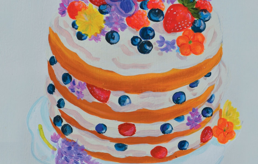 Cool A Berry Simple Cake Perfect To Celebrate Any Special Occassion Funny Birthday Cards Online Necthendildamsfinfo